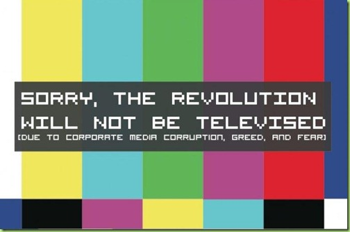 the revolution will not be televised The revolution will not fight the germs that may cause bad breath the revolution will put you in the driver's seat the revolution will not be televised, will not be televised.